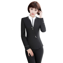 Buy Fashion women's Business suits OL slim work wear office ladies long sleeve blazer pant suits clothing women pants for $44.88 in AliExpress store