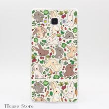 2824CA Rabbit Food Transparent Hard Cover Case for Galaxy A3 A5 A7 A8 Note 2 3 4 5 J5 J7 Grand 2 & Prime