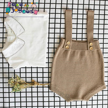 Baby Knitting Rompers Cute Overalls Newborn Baby Boys Clothes Infantil Baby Girl Boy Sleeveless Romper Jumpsuit 0-24M