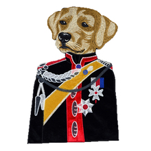 1 Pieces Dog's head General Cloth patches of Embroidery Applique badge stickers DIY Craft Sewing for Clothing Accessories C79(China)