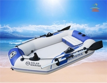 One Person Inflatable Kayak Boat Fishing Raft With Multi Air Chambers and Drop Stitch High Pressure Air Mat Floor
