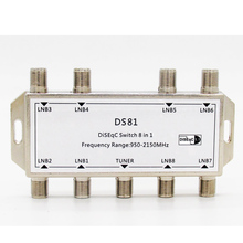 DS81 8 in 1 Satellite Signal DiSEqC Switch LNB Receiver Multiswitch Newest and Hot Sale