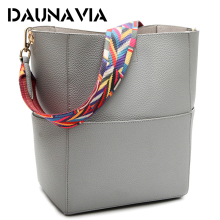 DAUNAVIA Designer Brand Famous Shoulder Bag Luxury Handbags Women Bag Female Vintage Satchel Bag Pu Leather 5 colors for choice
