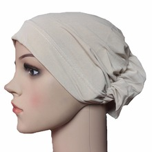 Muslim Hijab Caps Inner Islamic Underscarf Hats Stretchable Plain Styles(China)