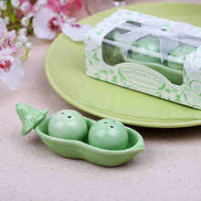 Bean Ceramic Salt and Pepper Shakers Wedding Favors Salt Peper Shakers Wedding Gifts Two Peas In A Pod