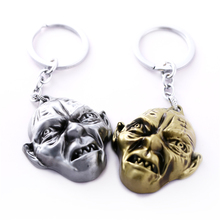 J Store The Lord of the Rings Keychain Gollum 3D Mask Logo The Hobbit Zinc Alloy Key Ring For Movie Jewelry Accessories