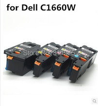 Compatible for Dell  C1660W printer color toner cartridge 332-0399 332-0400 332-0401 332-0402 with chip