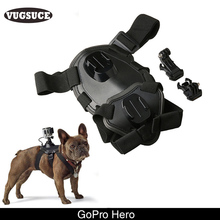 VUGSUCE GoPro Dog Harness Sport Camera Elastic Band Back Chest Strap Belt for Small Large Dogs Outdoor Surfing Pet Supplies(China)