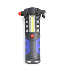 Multifunction Car Emergency Escape Safety Hammer Torch COB + 16 LEDs Powerful Work Light Lamp Flashlight Linternas Use 3xAA(China)