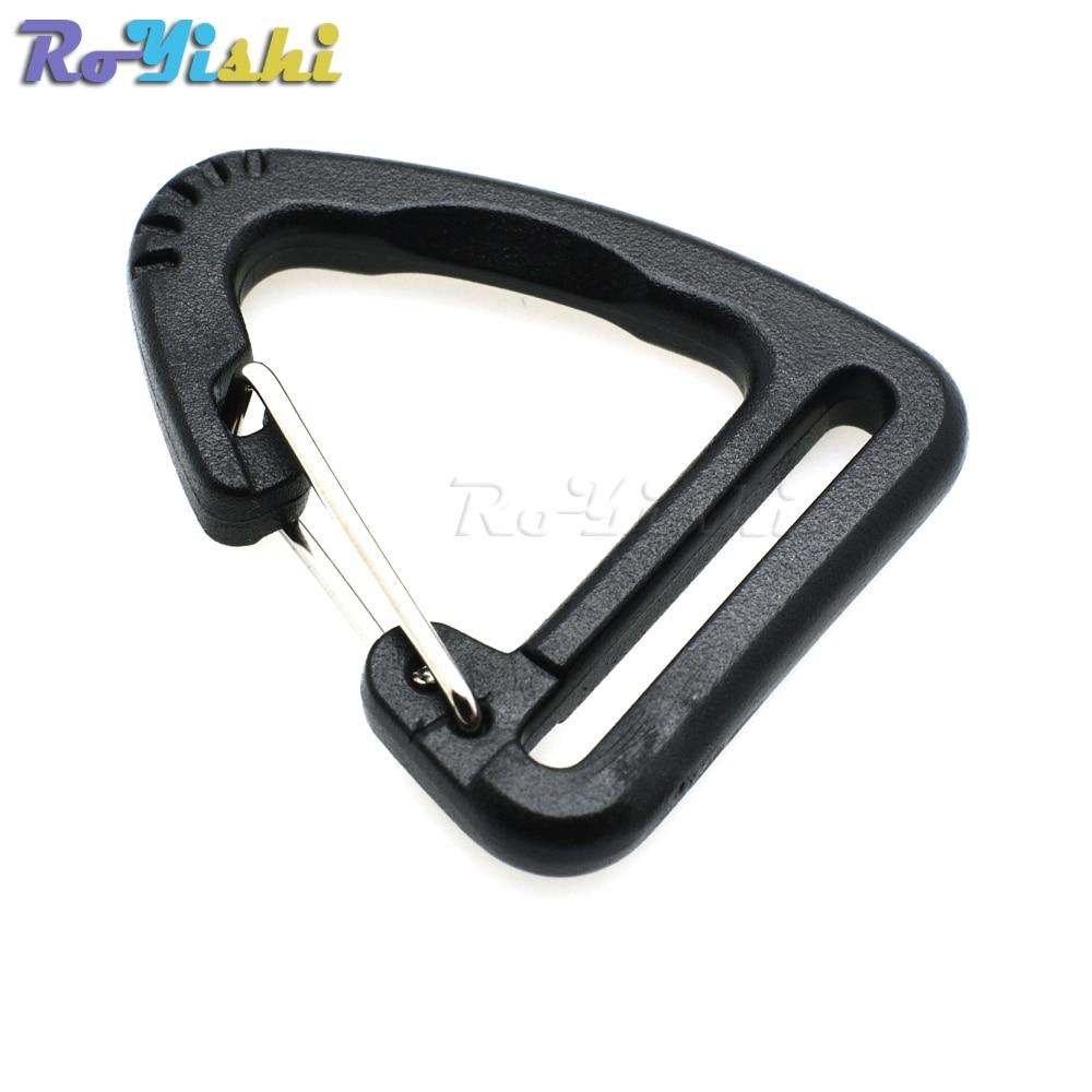 20pcs Plastic Heavy Duty Webbing Ladder Lock Buckle Strap Adjuster 25mm Black