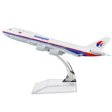 Airplane Malaysia B747-400 Airlines passenger plane alloy model 16cm/6.3in
