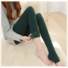 8 Color New Winter Thick Velvet Pants Female Warm Outer Wear High Waist Pants Were Thick Stretch Pants Stepped Foot Pants gift
