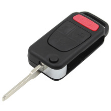 4 Button 3 + 1 Panic Flip Remote Key Keyless Entry Case Shell Key Cover For Benz MB ML350 ML500 ML320 ML55 AMG ML430