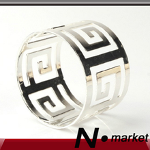 New Silver Golden Great Chinese Wall Napkin Holder Round Napkin Rings For Marry Weddings Table Decor Serviette