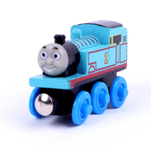 "Free shipping "" Thomas"" model Wooden Magnetic Thomas and Friends toys baby learning & education toys pista de carro brinquedos"