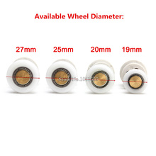10PCS Sliding Door Roller Shower Room Bath Door Rollers Runners Wheels Pulleys Bathroom Accessories Diameter 19mm/20mm/25mm/27mm