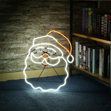 ICOCO New Neon Sign Night Light Santa Claus Shape Design Room Wall Decorations Home Love Ornament Coffee Bar Mural Crafts(China)