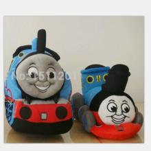 22cmThomas small plush toy train Doll Music Pillow children's educational birthday gift..Two kinds of expression(China)