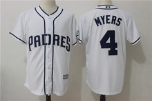 MLB Men's San Diego Padres 4 # MYERS Player Edition Jersey, Baseball Jersey MLB Jersey Free Shipping(China)