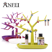 Earring Display Plastic tree Jewelry Organizer Earring holder Big Size Necklace holder Earring and Ring Storage  Gift For Girls