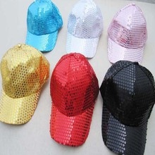 New 2017 Children Kids Adult Adjustable Sequins Baseball Ball Cap Hat Party Stage Show Performance Daily Wear Party Hat