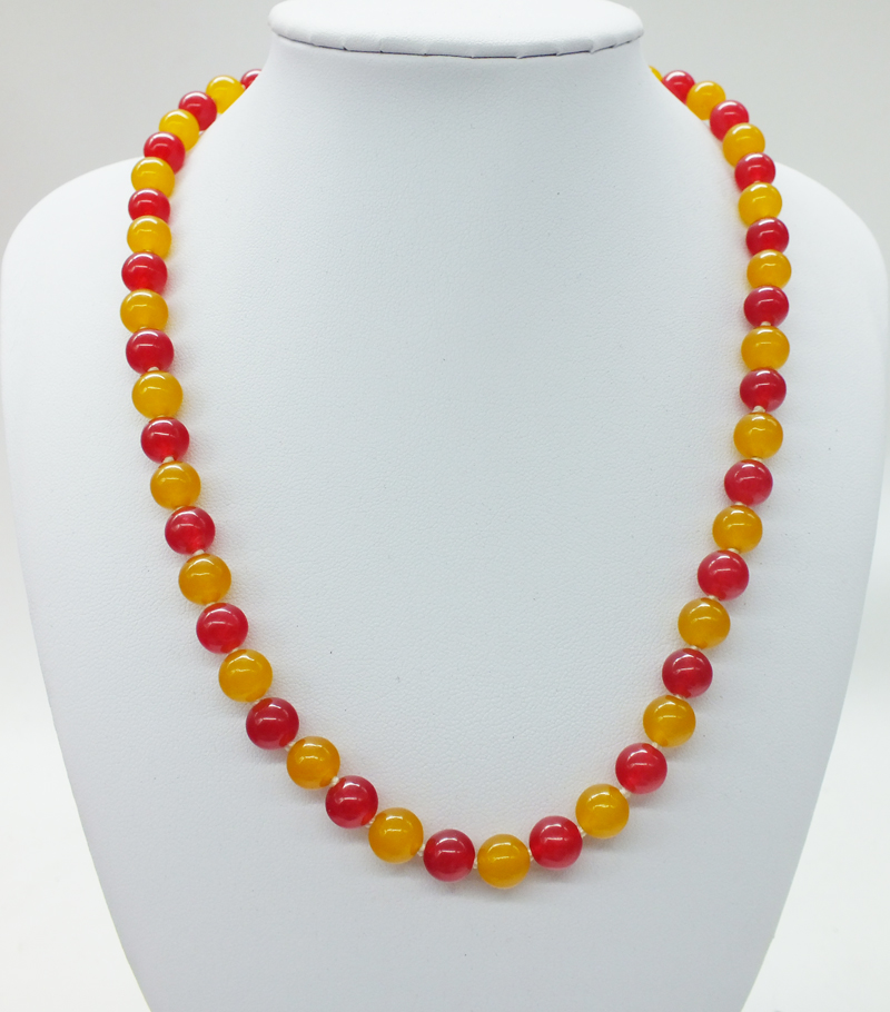 Free Shipping , 8MM Natural Brazil, Semi-Precious Stones Necklace  18""
