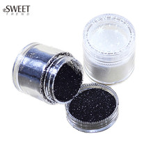 1 Bottle Black/White Shining Nail Glitter Powder Dust For UV Gel Acrylic Gem Sequin Decoration Beauty Manicure Tools LA26&48