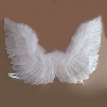 Buy black white Angel Feather Wings adult kids costume Halloween Costume Cosplay Fancy Dress Party Supplies Children Gift for $2.99 in AliExpress store