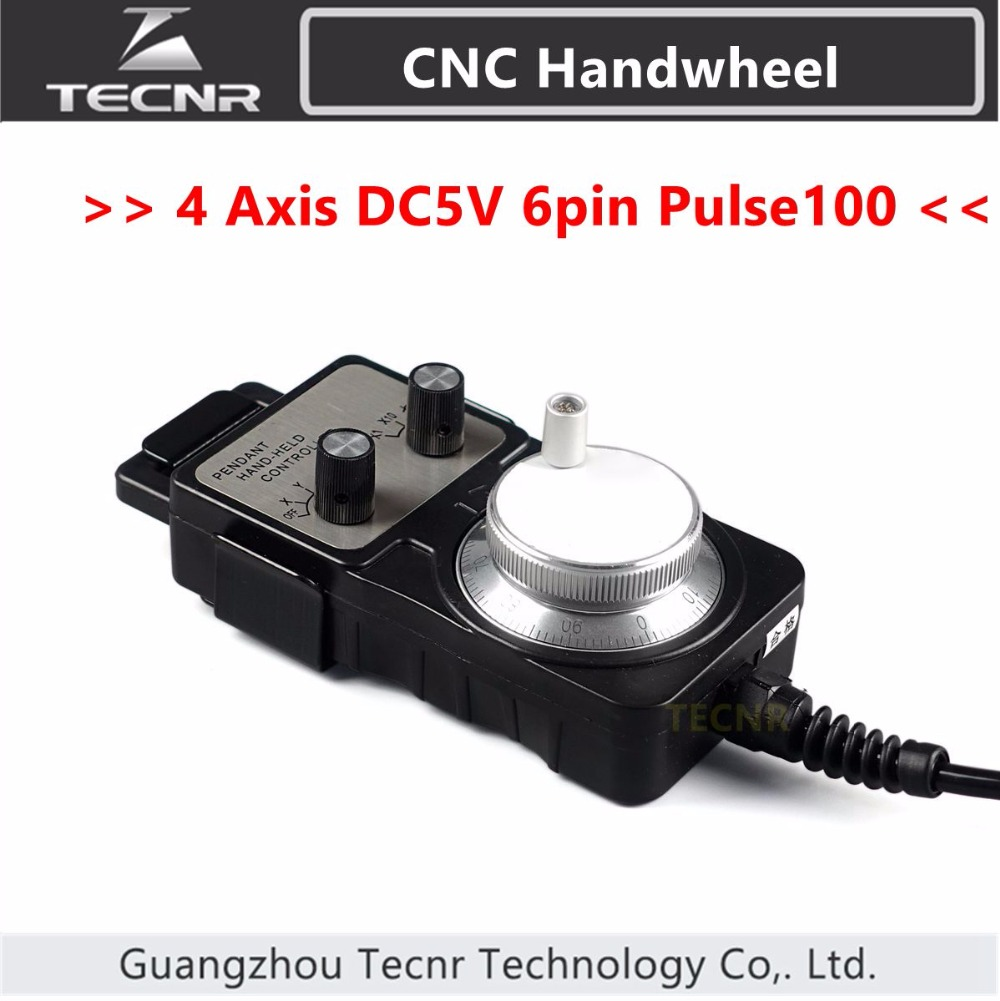 4 Axis Pendant Handwheel manual pulse generator 5V MPG Pulse 100 for Siemens, MITSUBISHI, FANUC etc<br>