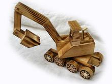 Wooden crafts wholesale wooden children toy car model excavator latest toy vehicle