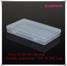 High Quality PP Transparent Plastic Box Hardware Tools Storage Box Storage Accessory Box 2pcs / lot Free Shipping