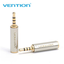Vention 1Pcs 2.5mm Male to 3.5mm Female Audio Adapter Jack 3.5mm Audio Plug 4 poles Connector Audio Plug Stereo Headphone MP3(China)