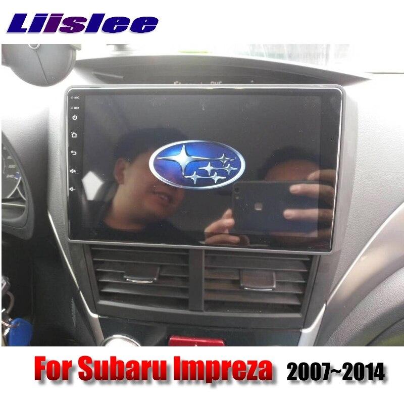 For Subaru Impreza Outback Sport B3 GE GV GH GR RX WRX 2007~2014 LiisLee Car Multimedia GPS Audio Radio Stereo Navigation NAVI 2