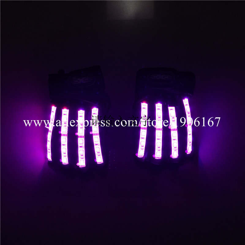 Led Gloves Stage Show Props LED Light up Gloves Glow Party Supplies16