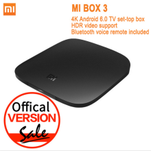 Global Version Xiaomi Mi TV Box 3 Android 6.0 4K 8GB HD WiFi Bluetooth Multi-language Youtube DTS Dolby IPTV Smart RemoteControl