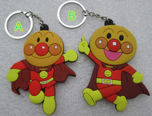 40 pcs/lot Anpanman figures keychains Japanese Animie Anpanman PVC sided pendants 20 set for party gift Wholesale free shipping(China)
