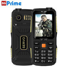 Original Servo V3 Quad Sim Mobile Phone Dustproof Shockproof 2.4 inch Phone 4 SIM cards GPRS Russian Language keyboard(China)