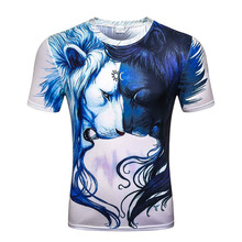 2017 Newest Fashion Harajuku Men/Women T-shirt 3d Print White Black Lion Hip Hop Brand T Shirt Summer Tops Tees