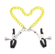 gold chain fetish nipple clamps shaking milk stimulate for couple men female breast clitoris clip massage slave costume sex toys