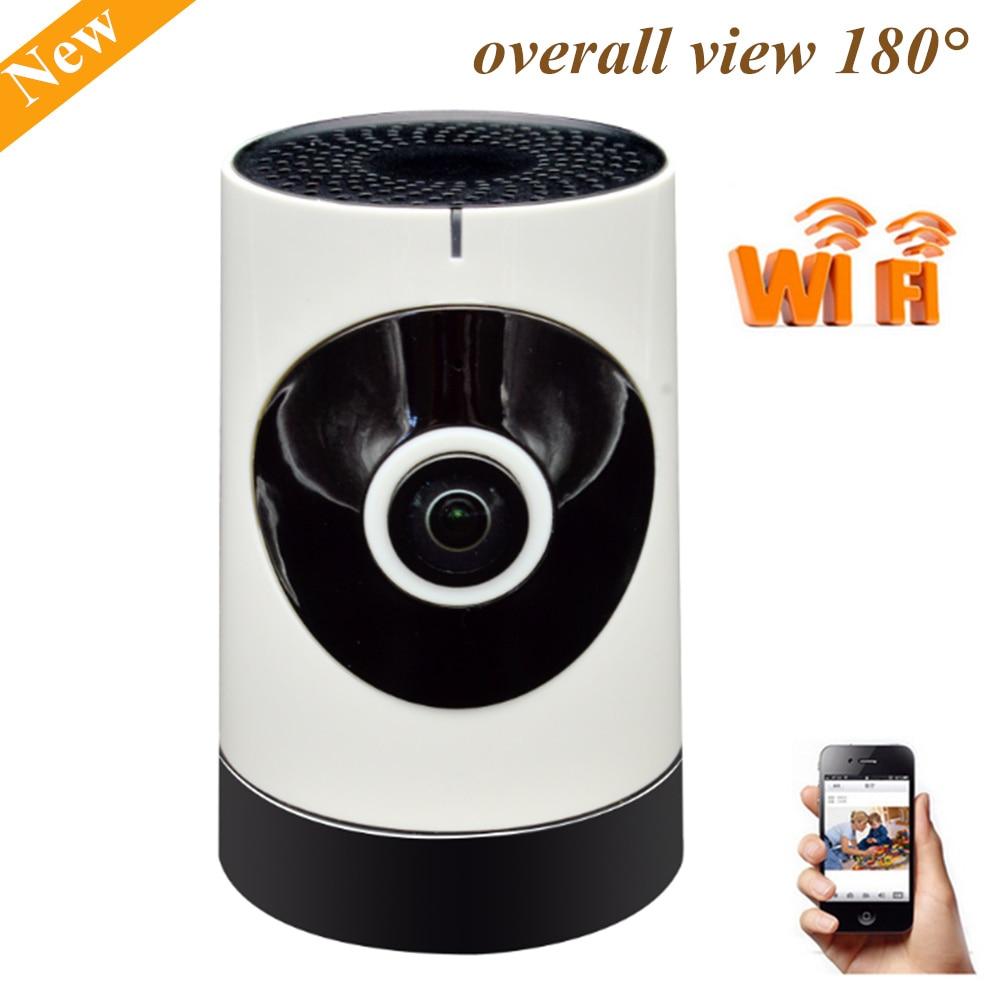 Wireless Wifi Ip Camera 720P 180 Degree wireless indoor Fisheye Panoramic IP Camera Support P2P Baby Monitor<br>