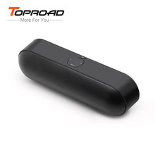 Toproad Bluetooth Speaker Super Bass Stereo Wireless Bluetooth Portable Receiver with TF FM AUX USB MP3 Player for Smart phone(China)