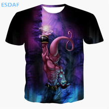 ESDAF Hot Summer The New Men Japan Cartoon Anime Dragon Ball Super The Magician Buu Short Sleeves T Shirt Brand Comfortable Tops