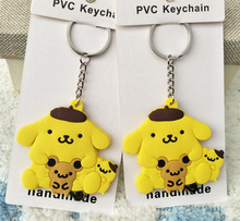 Cartoon Sanrio pudding dog  Doll Toys Keychain Pom Pom Purin Backpack Fashion birthday For Gift TSUM