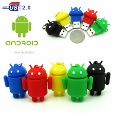 new design Cartoon Android robot usb flash drive pendrive 4gb 8gb 16gb 32gb gift pen drive memory stick real capacity 5 colors