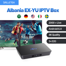 4K Movie TV Box UK Europe Arabic Albania EX-YU IPTV 3G 32G X92 Amlogic S912 Android 6.0 TV Set Box Octa Core Bluetooth 5G Wifi