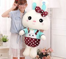 Fancytrader 39'' / 100cm Cute Jumbo Plush Braces Dressing Rabbit Bunny Toy, Nice Birthday Gift for Kids, Free Shipping FT50077