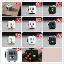 Free DHL 150pcs/lot Mini Fidget Cube 11 Colours Desk Finger Toy Fun Stress Reliever Puzzle Magic Cube With Box