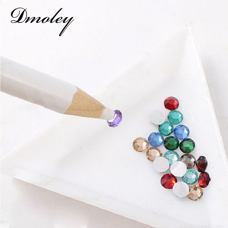 1 Piece Rhinestones Picker Pencil NAIL ART Gem Setter Pen Pick Up Tool Wax Crystal(China (Mainland))