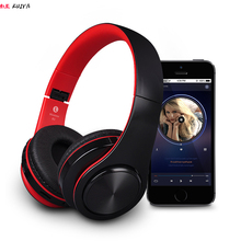 HIFI stereo earphones bluetooth headphone music headset FM and support SD card with mic for mobile xiaomi phone samsung tablet