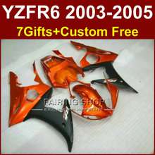 EH7 body repair parts for YAMAHA R6 fairing kit 03 04 05 burnt orange fairings YZF R6 2003 2004 2005 Motorcycle sets KOT5